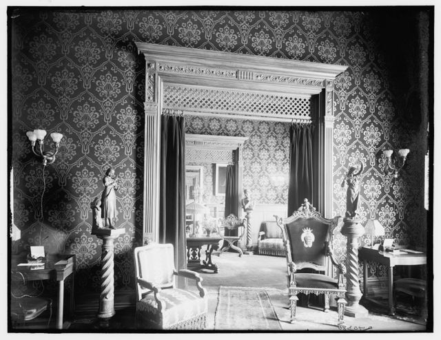 Ladies' writing room, reading room, and library, Murray Hill Hotel
