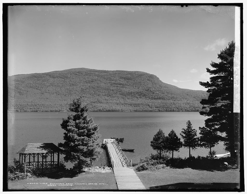 Lake Dunmore from Mountain Spring Hotel, Green Mountains