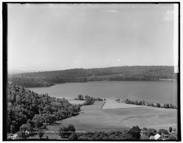 Lake Dunmore from the east, Green Mountains