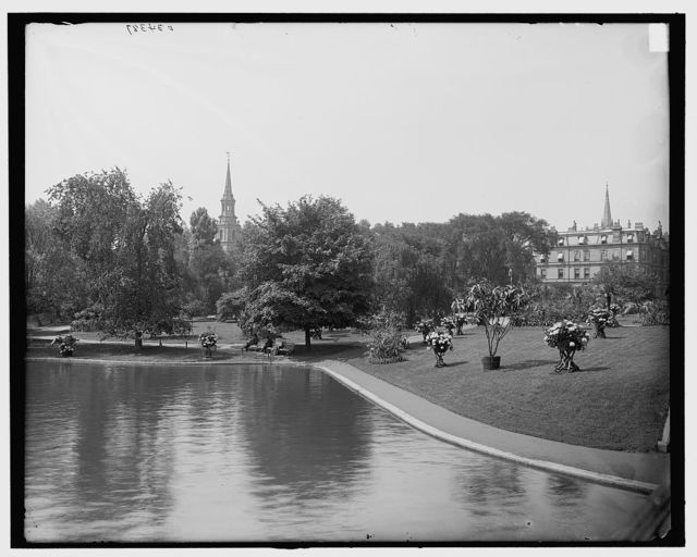 [Lake, Public Garden, Boston, Mass.]