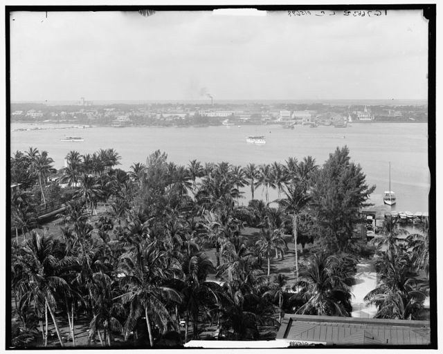 Lake Worth and W. Palm Beach from the Royal Poinciana