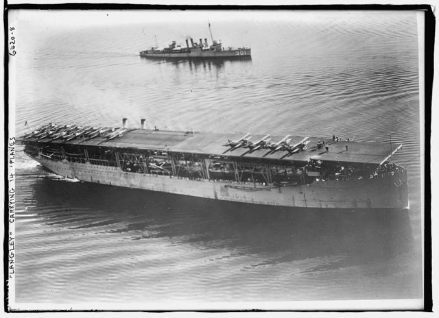 LANGLEY carrying 14 planes