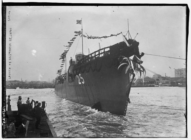 Launch of destroyer 25, Japan