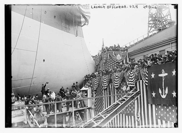 "Launch of ""Florida"", U.S.N."