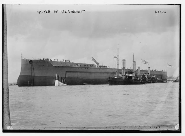 "Launching of ""St. Vincent"", Southsea / West & Son"