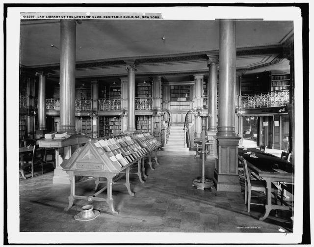 Law library of the Lawyers' Club, Equitable Building, New York