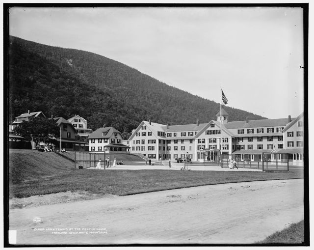Lawn tennis at the Profile House, Franconia Notch, White Mountains