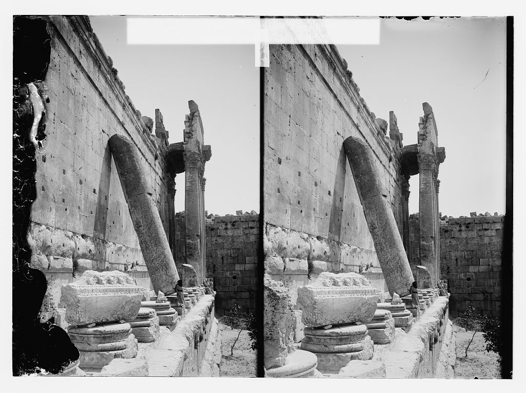 Leaning column of Temple of Jupiter