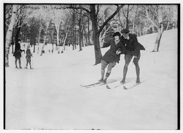 Learning to ski, Quebec