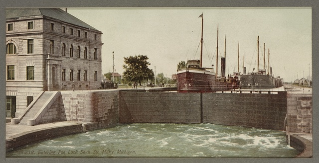 Leaving the Poe Lock, Sault Ste. Marie, Michigan