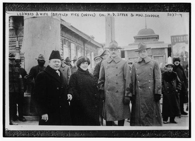 Ledward & wife, (British Vice - Consul), Col. H.D. Styler, & Maj. Scudder