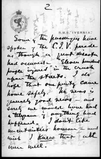Letter from Alexander Graham Bell to Mabel Hubbard Bell, November 2, 1900