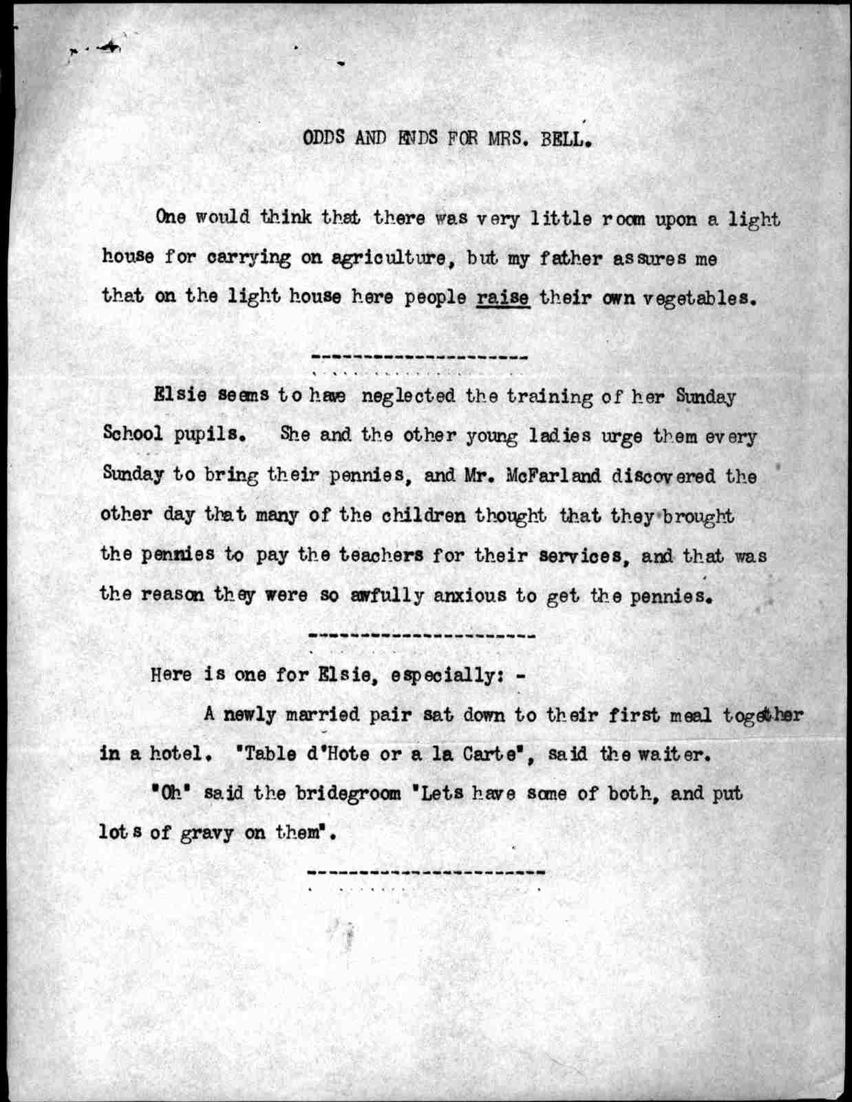 Letter from Alexander Graham Bell to Mabel Hubbard Bell, September 24, 1900
