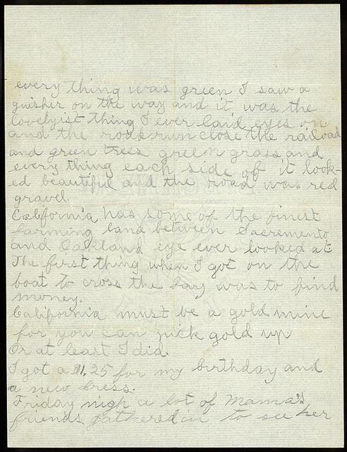 Letter from Lillie Oblinger to Uriah W. Oblinger, December 3, 1900