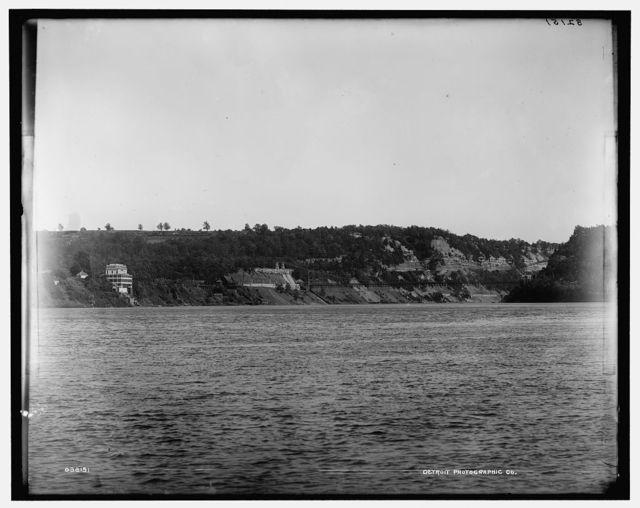 [Lewiston & Queenston Suspension bridge, Niagara River, New York and Canada]