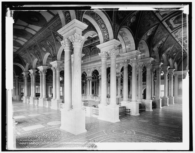 Library of Congress, second story, central stair h[all]
