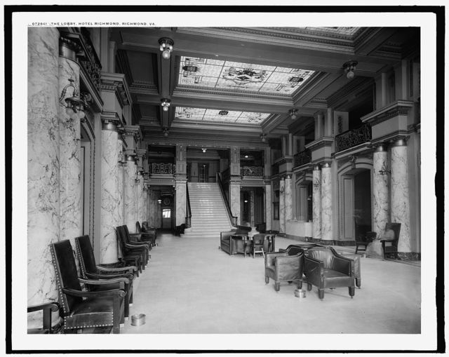 Lobby, Hotel Richmond, Richmond, Va., The