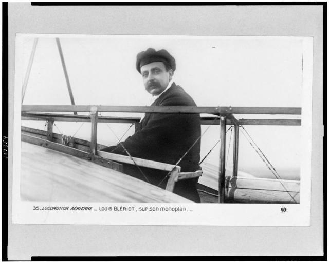 Locomotion aérienne - Louis Blériot, sur son monoplan