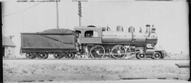 [Locomotive number 501 and tender, Chicago & Alton railroad]