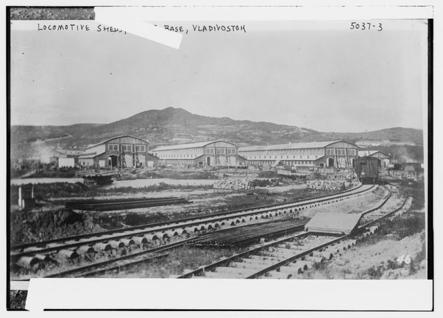 Locomotive sheds, AEF Base, Vladivostock