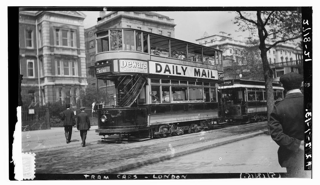 [London tram cars]