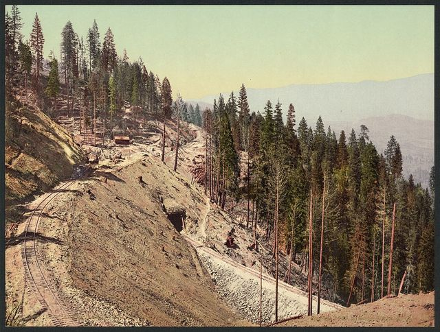 Loop and tunnels, Siskiyou Mountains, California