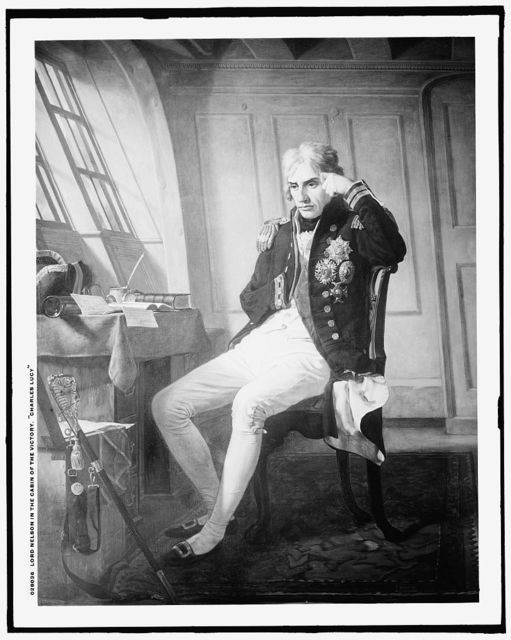 Lord Nelson in the cabin of the Victory