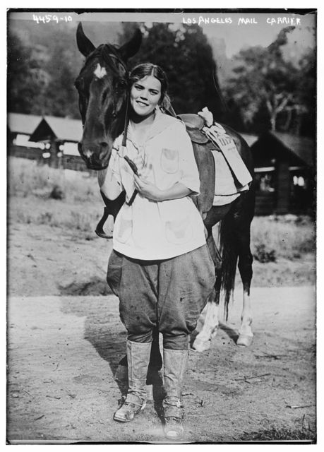 Los Angeles [woman] mail carrier