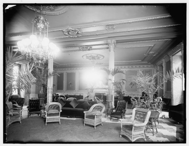 Lounge in foyer, Murray Hill Hotel