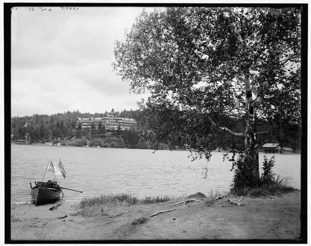 [Lower Saranac Lake, the [Hotel] Ampersand, Adirondack Mtns., N.Y.]