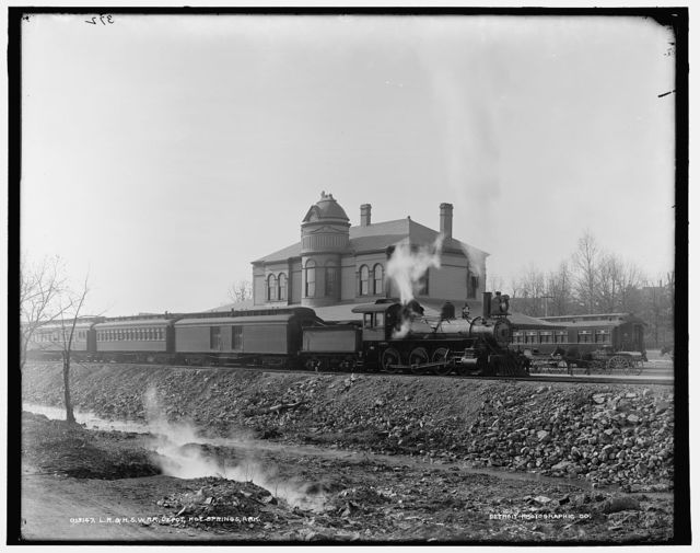 L.R. & H.S.W. R.R. [i.e. Little Rock & Hot Springs Western Railroad] Depot, Hot Springs, Ark.