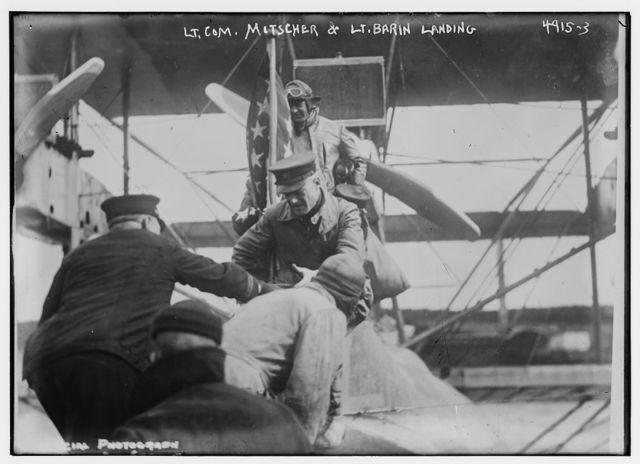 Lt. Com. Mitscher & Lt. Barin Landing