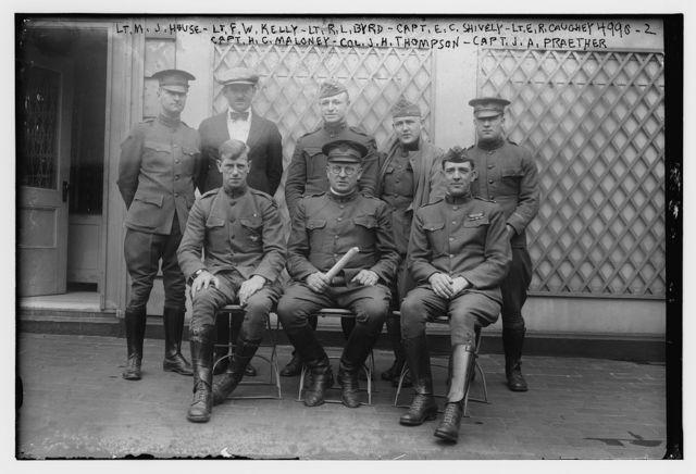 Lts: House, Kelly, Byrd, Caughey; Capts: Shively, Maloney, Praether & Col. Thompson