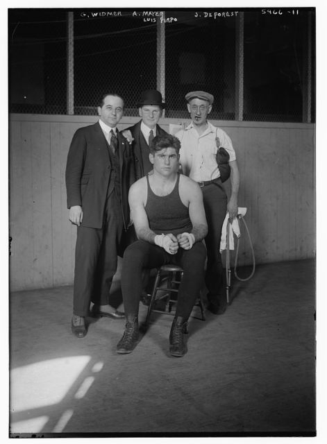 Luis Firpo [and his handlers: G. Widmer, A. Mayer, J. DeForest]