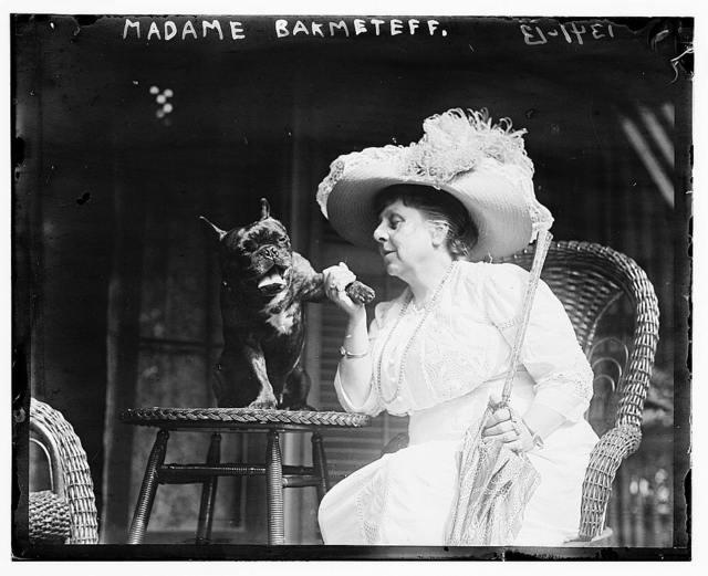 Madame Bakhmeteff & dog