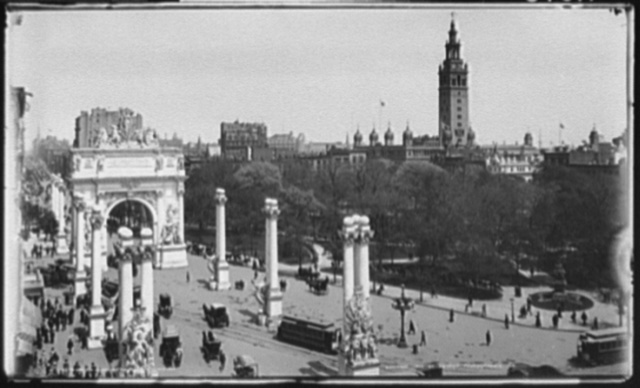 Madison Square and the Dewey Arch, New York