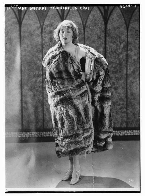 Mae Murray (chinchilla coat)
