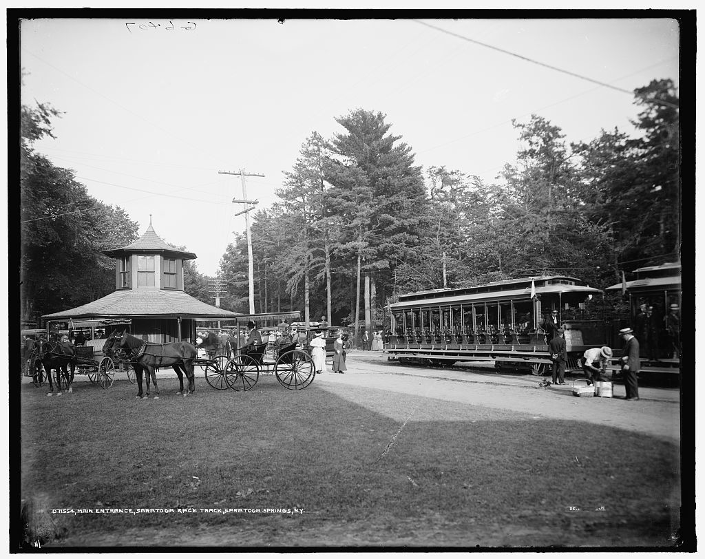 Main entrance, Saratoga race track, Saratoga Springs, N.Y.