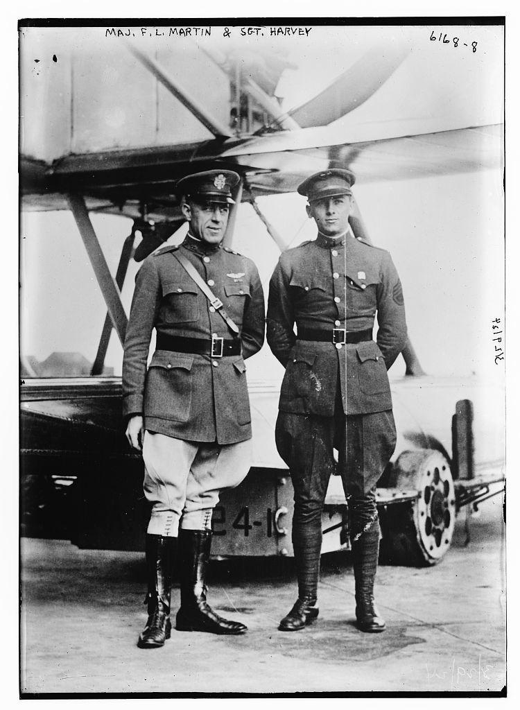 Maj. F.L. Martin & Sgt. Harvey