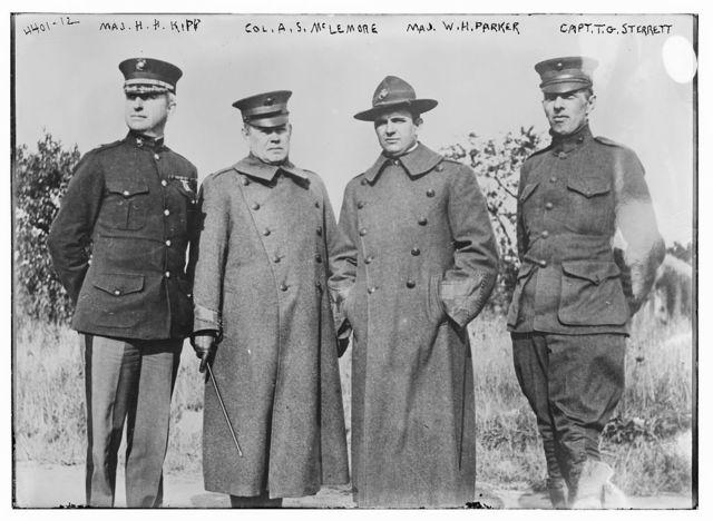 Maj. H.H. Kipp, Col. A.S. McLemore, Maj. W.H. Parker, and Capt. T.G. Sterrett