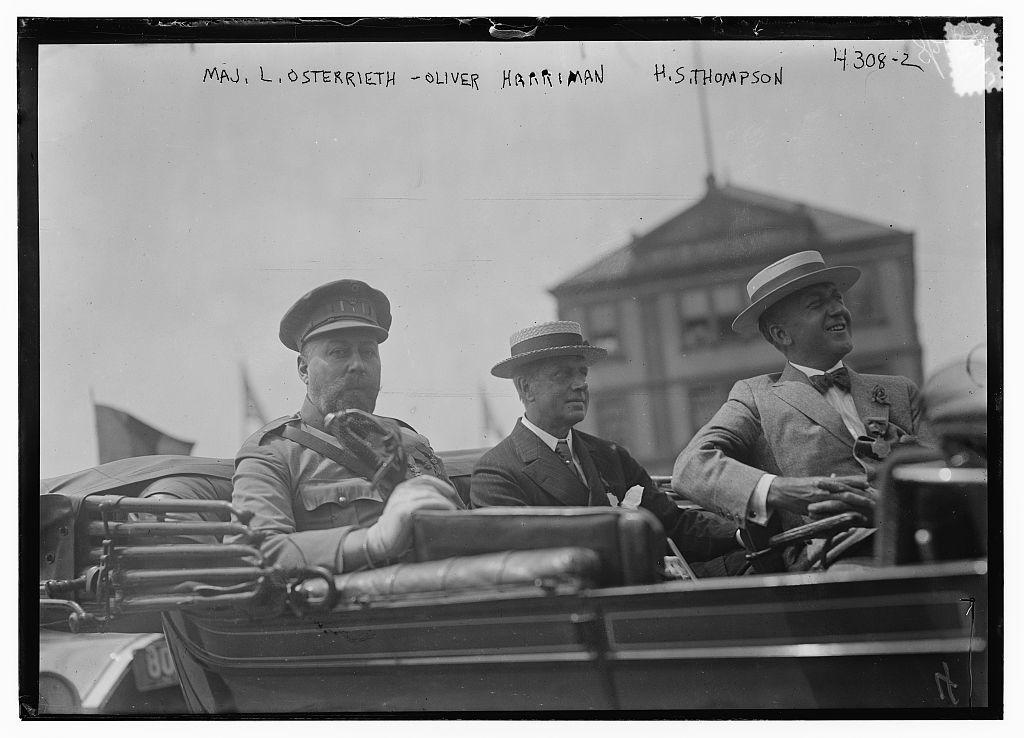 Maj. L. Osterrieth, Oliver Harriman, H.S. Thompson