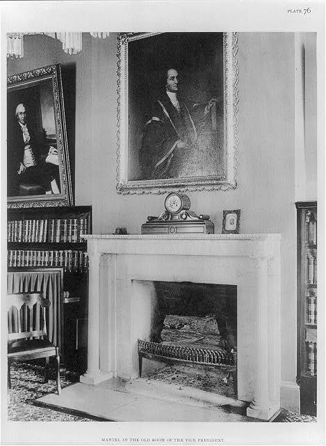 Mantel in the old room of the Vice President