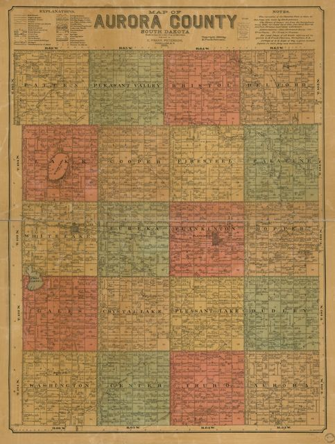 Map of Aurora County, South Dakota : compiled and drawn from a special survey and official records /