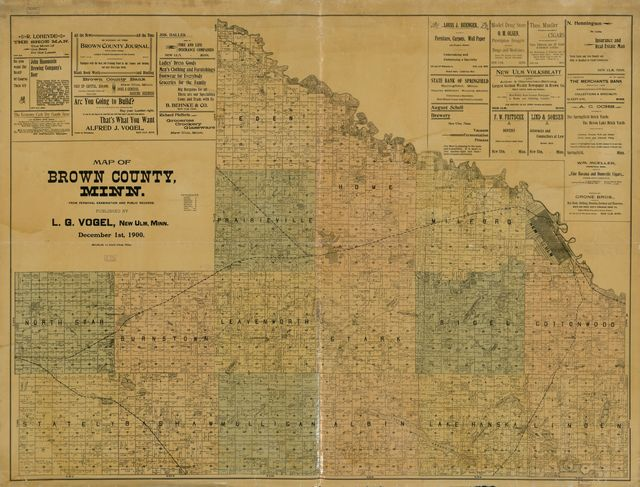 Map of Brown County, Minn. : from personal examination and public records.