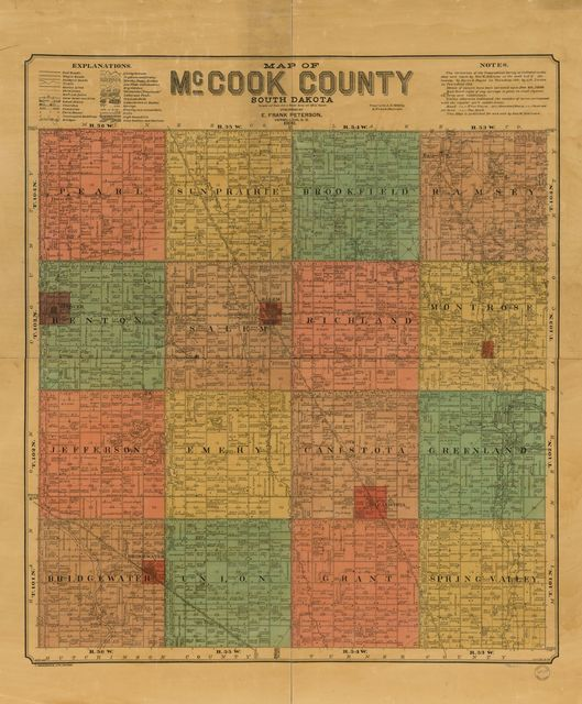 Map of McCook County, South Dakota : compiled and drawn from a special survey and official records.
