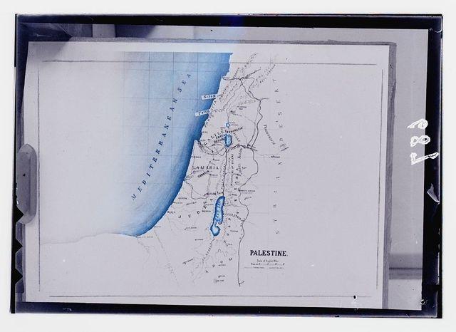 Maps, plans, restorations, etc. Bartholomew's map of Palestine