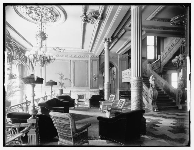 Marble stair in foyer, Murray Hill Hotel