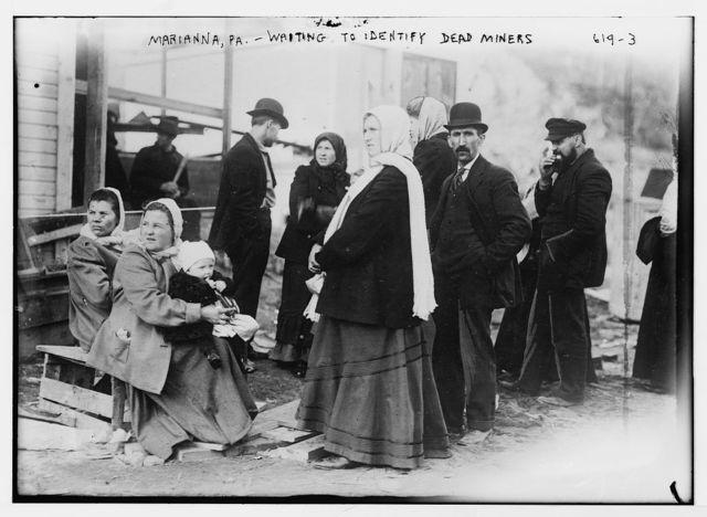 Marianna, PA. mine disaster, group waiting