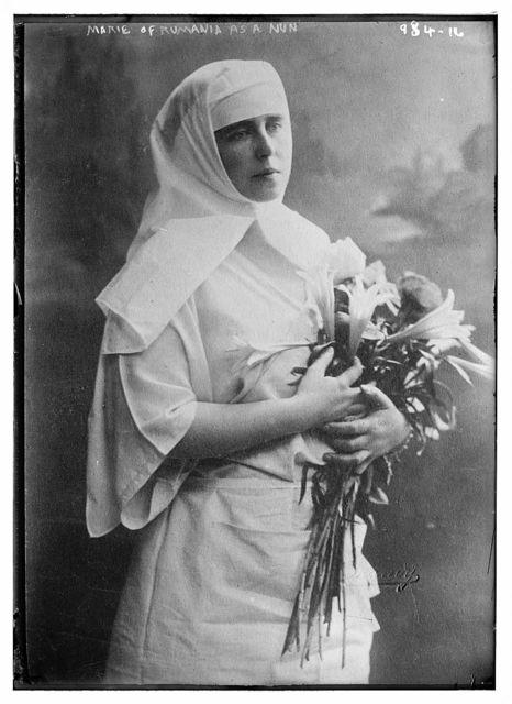 Marie of Roumania as a nun