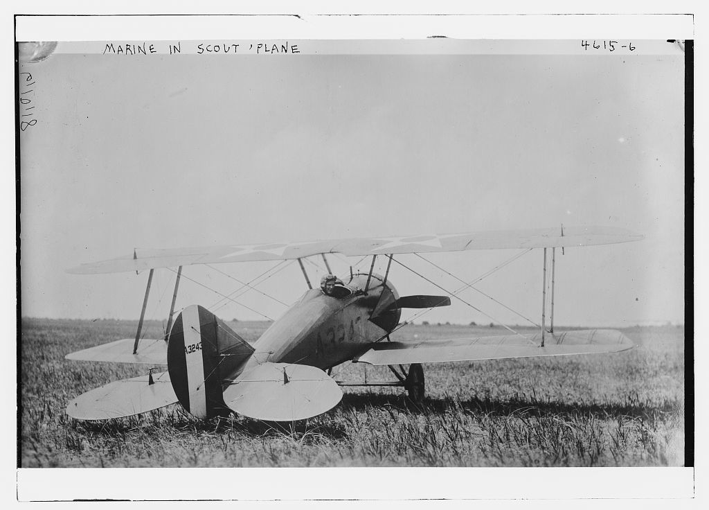 Marine in Scout plane